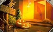 Achar números no cenário de Halloween