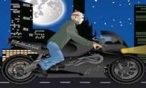 Andar de moto com velocidade