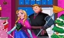 Anna e Kristoff Limpeza de Natal