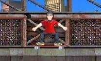 Aventura em cima do skateboard