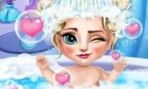 Banho da Baby Elsa