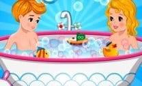 Banho Duplo em Bebês
