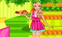 Barbie comprar frutas