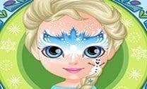 Bebê Barbie Pintura Facial De Frozen