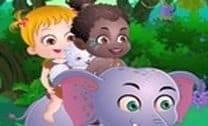 Bebê Hazel aventura na África