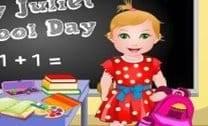 Bebê Juliet Dia De Escola