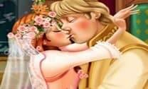 Beijo no Casamento de Anna