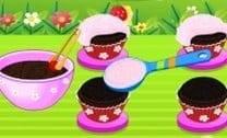 Bolinhos De Chocolate Com Cereja