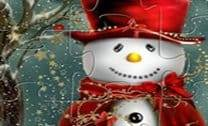 Boneco de Neve Bonito Jigsaw