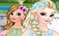 Bride Elsa and Bridesmaid Anna