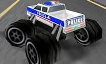 Caminhão Monstro Policial 3D