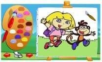 Colorindo com a Dora