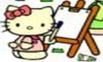 Colorinndo com Hello Kitty