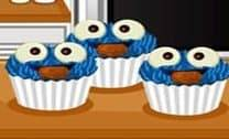 Cooking Frenzy: Cookie Monster Cupcakes