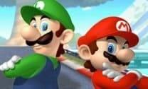 Correr com Mario e Luigi