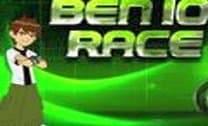 Corrida de moto com Ben 10