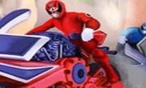 Corrida de moto dos power rangens