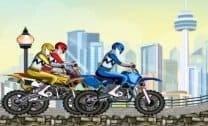 Corrida de Moto Power Rangers
