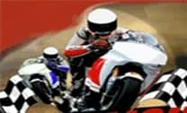 Corrida eletrizante de moto
