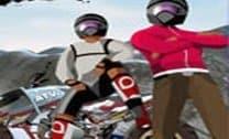 Corrida potente de moto