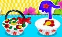 Cupcakes Cesta De Flores