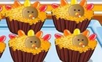 Cupcakes de Ação de Graças