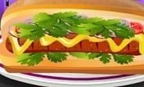 Delicioso cachorro quente