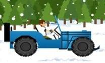 Dirigir jeep na neve do Ben 10
