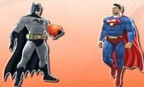 Disputa de Basquete Do Batman e Super Homem
