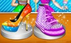 Elsa And Anna Shoe Decor