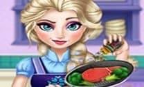 Elsa Real Cozinhando