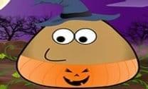 Fantasia de halloween de pou