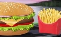 Hambúrguer com Fritas