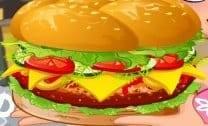 Hambúrguer suculento