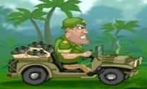 Jeep do exército na floresta