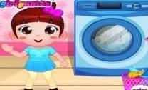 Lave A Roupa E Limpe O Quarto