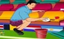 Limpando O Estádio Da Copa Do Mundo 2014