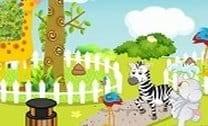 Limpeza no zoológico