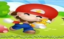 Mario atirando estrela