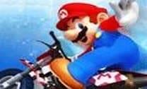 Mario e a potente moto