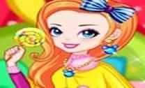 Menina Arco-Íris Com Pirulito