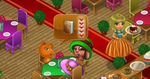 Mina Treinando No Restaurante