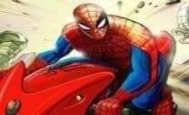 Moto com Homem Aranha