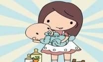 Nany cuidando do bebê