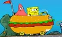 Passeio no carro de hambúrguer com Bob Esponja