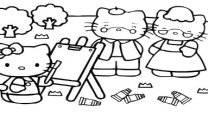 Pintar com a Hello Kitty
