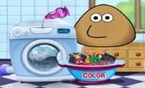 Pou Lavando Roupa