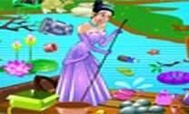 Princesa Tiana Limpando O Lago