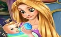 Rapunzel Bebê Alimentação