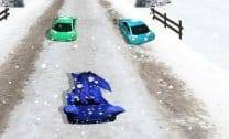 Sonic Corrida na Neve